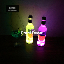Night club LED mini bottle sticker glow sticker RED Pink multi colors led flashing Blue Green White colors available 10pcs/lot