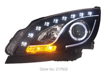 for Buick Excelle GT 2010-2014 Projector head lights V1 Angel Eye Low beam Dual lens H7 high light H1 LED Line light Black LF
