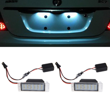 Car Styling New 1 Pair License Plate Light For Camaro 2010-2013 Chevrolet Cruze 2009-2014