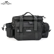 40*17*20cm Men Fishing Bag Outdoor Oxford Cloth Multifunctional Waist Shoulder Bag Reel Lure Storage Bags Fishing Tackle Pesca