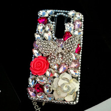 Luxury Bling Diamond Butterfly DIY Crystal Cases For LG G3 G4 G5 G6 K7 K8 K10 V10 V20 Rhinestones Capa Funda Coque