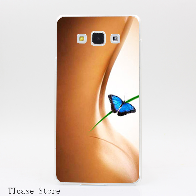 3077CA Sexy Cute Girl skin Transparent Hard Cover font b Case b font for Galaxy A3
