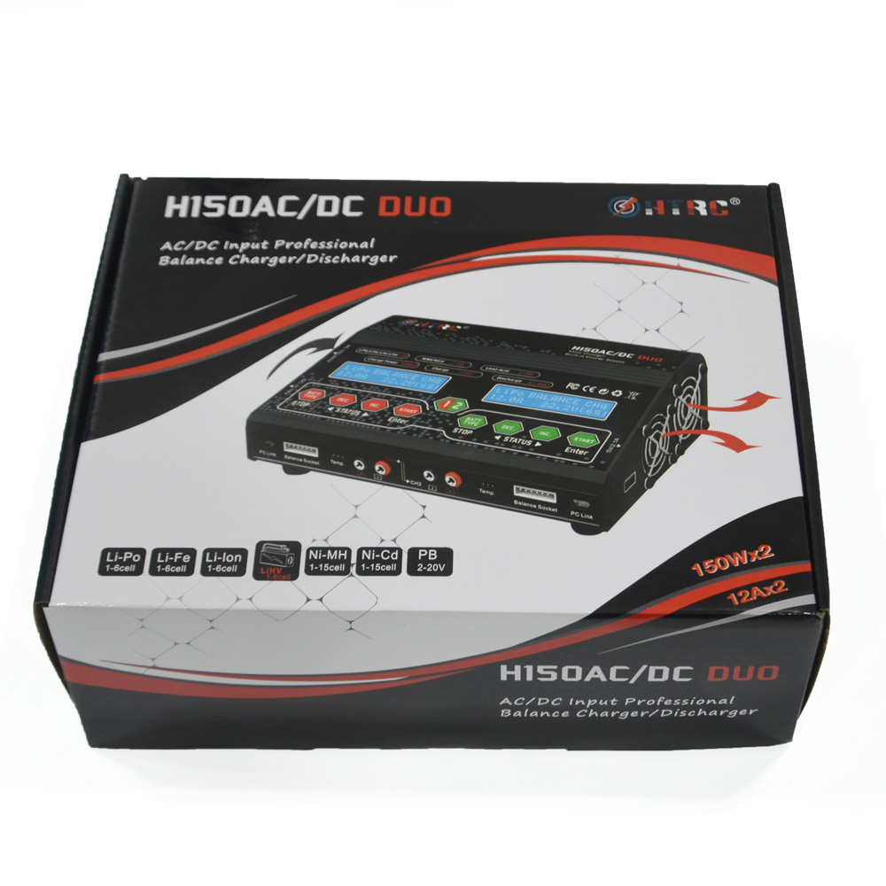 HTRC H150 AC DC DUO 150W 12A Balance charger (6)