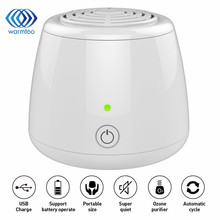 Mini Household Oxygen Intelligent Negative Ion Air Purifier Fridge Food Preserver Air Cleaner Air Freshener For Hotel Car(China)