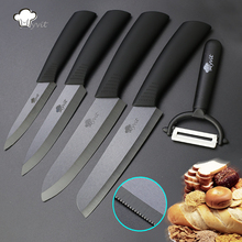 "Myvit brand Home Kitchen Knives set 4"" 5""  6""+6"" Bread Knife Ceramic Knife Black Blade Kitchen Knives in high quality"