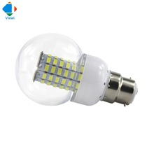 5x 12v led bulb B22 corn light 220v smd 5730 69leds bulbs lamp Ac 12 24 36 volt 86-265v Transparent shell ball lights warm white