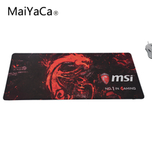 MaiYaCa Msi Mouse Pad Locked Edge Pad to Mouse Notbook Computer Mousepad Gaming Padmouse Gamer to Laptop Keyboard Mouse Mats