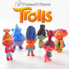 6pcs/set Trolls Baby trolls Bobby Blanche doll toys children doll ornaments Automotive Decoration 10cm