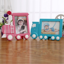 Creative 7 Inch Photo Frame Children Toy Picture Frame Truck Train milk Cow Cadre photo Porta Retrato Kids Gift Home Decor(China)