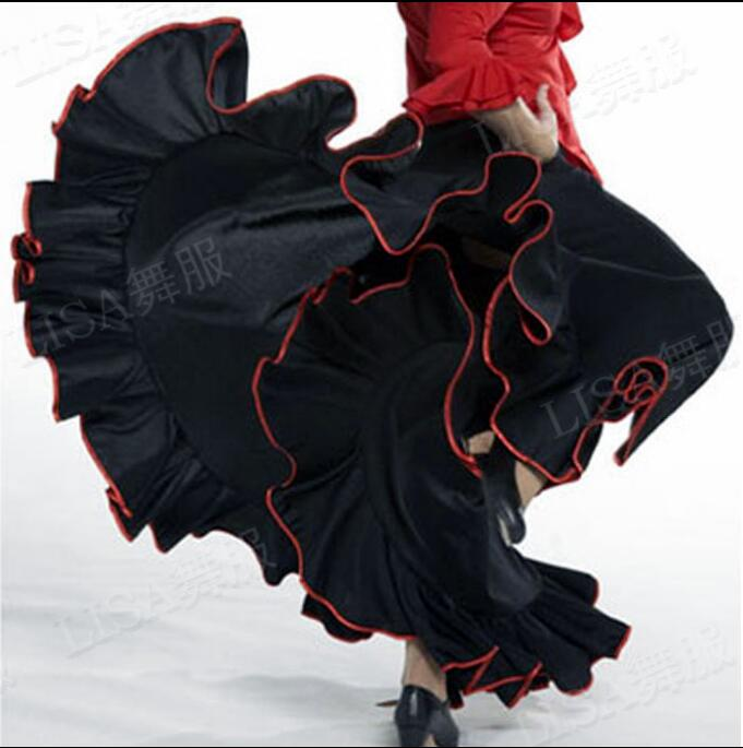 Flamenco skirt Long dress Skirts Flamenco dance costumes Spanish dance skirts