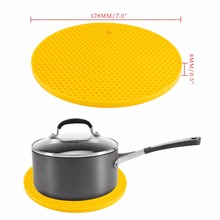 Non-Slip Silicone Mat Coaster Cup Mat Table Mat Round Heat Insulation Antiskid Tea Coffee Cup Dishes Mat Kitchen Accessories
