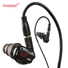 Original Moxpad X3 In-ear sport Earphones with Mic for Huawei OPPO ,Mobile Cell Phones,Replacement Cable+Noise Isolating headset
