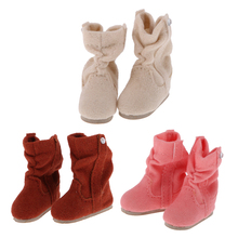 New Arrivals PU Leather Lovely 1/6 Beige Doll Boots Shoes Fit for 12'' Blythe Dolls Clothes Clothing Dresss Up Dolls Accessories(China)