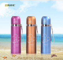 1PC Thermos Mickey Tea Cup Stainless Steel Insulated Water Bottle Thermo Cup Garrafa Termica Sport Travel Vacuum Flask KD1454(China)