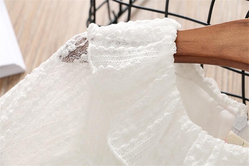 2-7 année filles robe 2018 printemps automne nouvelle mode fleur dentelle princesse robe enfant enfants robe filles vêtements filles vêtements 16