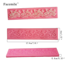 Lace Silicone Chocolate Baking Mold candy mold  Cake Fondant Mould Decorating Tool 50-121 Gift