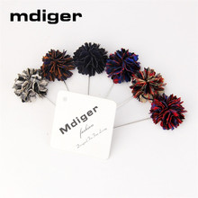 Mdiger Flower Brooch Bouquet Long Pins Wedding Corsage Metal Women Floral Brooches Lapel Pin Mens Suits Accessories 10 PCS/LOT(China)
