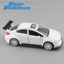 1:32 Scale free FAST and FURIOUS Mr.Little Nobody's SUBARU WRX STI metal diecast model auto race cars toys for boys collection(China)