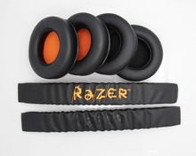Replacement Headband Cushion Pad & Ear Pads Cushions Cover For Razer Kraken 7.1 Pro Gaming Headphones Headsets