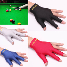 New arrival 4 Color Snooker Billiard Cue Glove Pool Left Hand Open Three Finger Accessory new arrival free shipping
