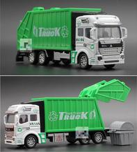 Alloy Sanitation Trucks Toy 1:32 Diecast Cars City Vehicle Metal Model Car Toys For Children Brinquedos