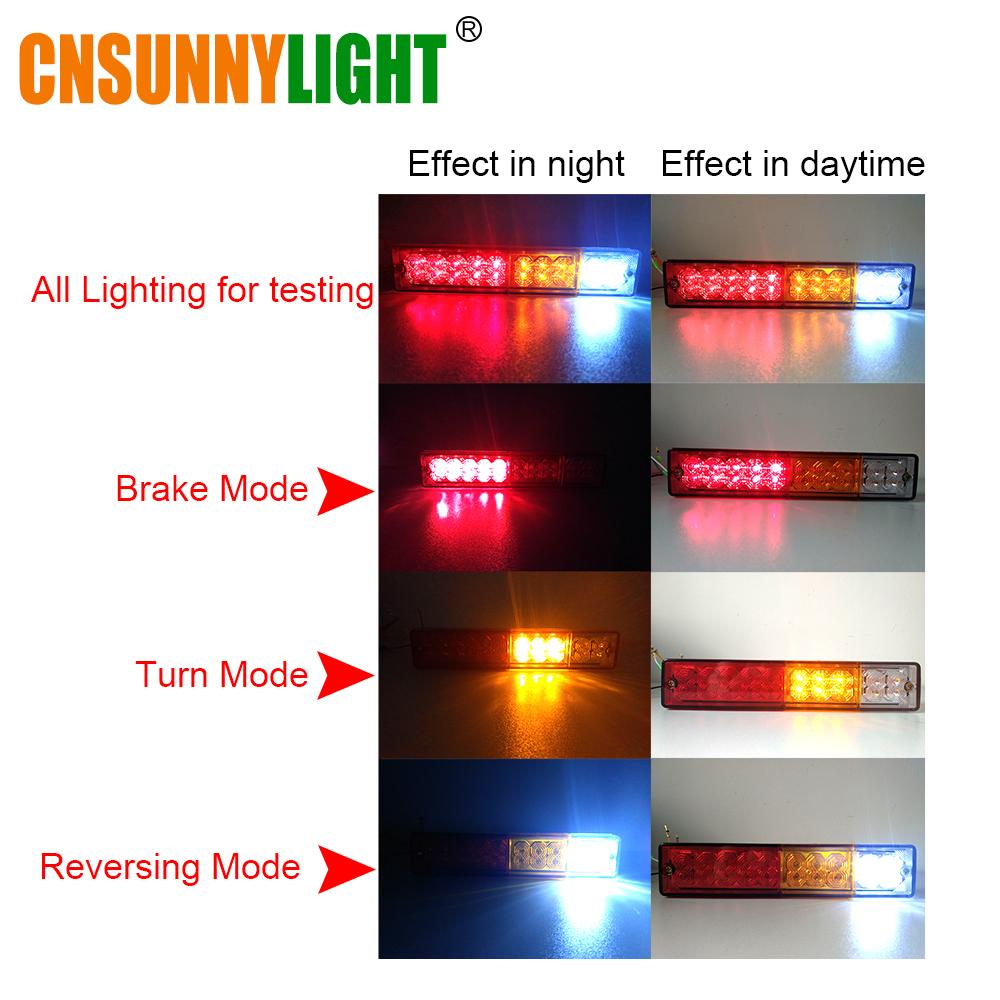 CNSUNNYLIGHT Waterproof 20leds ATV Trailer Truck LED Tail Light Lamp Yacht Car Taillight Reversing Running Brake Turn Lights 12V (2)