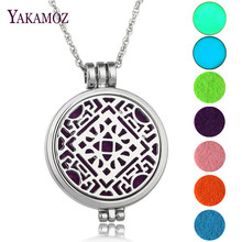 Aromatherapy Diffuser Locket Pendant Necklace Charm Essential Oil Perfume Glowing In The Dark Necklace Jewelry Best Friends Gift