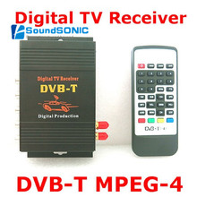 2 Tuners External Mobile DVB-T MPEG-4 Auto DVBT MPEG4 Digital TV Receiver Box With Remote Control For Car DVD GPS Player