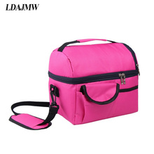 LDAJMW Travelling Portable Ice Bags Waterproof Oxford Cooler Bag Lunch Bag Leisure Picnic Packet Bento Box Food Storage Bag(China)