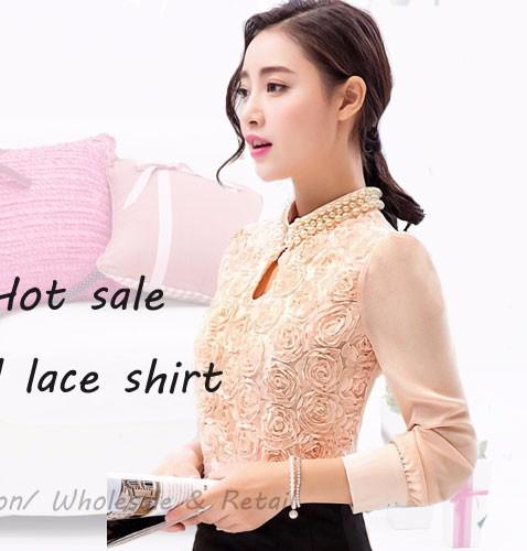 HTB1abNYRpXXXXXZaXXXq6xXFXXXU - New Women Chiffon blouse Flower long sleeved Casual shirt