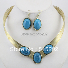 Fashion turquoise jewelry set personalized african necklace for women LM_S036 FREE SHIPPING