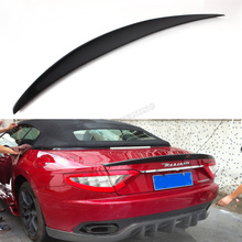 Carbon Fiber Car Rear Wing Spoiler Boot Lip Spoiler For Maserati GranTurismo GT Coupe Open 2010UP (fit flat trunk)