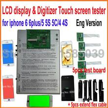 New LCD display & Digitizer Touch screen panel Tester test board for iphone 6 6 plus 4 4S 5 5S 5C,Vibrator buzzer speaker(China)