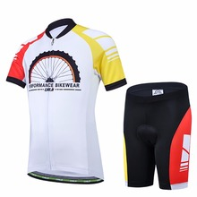 Kids Short Sleeve Cartoon Cycling Jersey Set for Boys MTB Bike Bicycle Ropa Children Riding Cycling Clothes ciclismo(China)