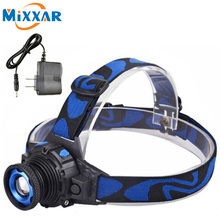 RUZK20 Cree Q5 LED Frontal Headlamp Headlight Flashlight Rechargeable Linternas Lampe Torch Head lamp Build-In Battery + Charger(China)