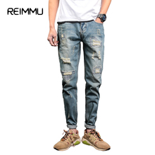 Buy Reimmu Ripped Jeans Men Trousers Mens Clothing Fashion Brand Male Jeans Pants Hot Sale Imported Clothing Men Jeans Male Clothes for $27.93 in AliExpress store