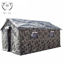 Wnndieo Heavy Duty Waterproof Canvas Military Camping Refugee Relief Tent Construction Site Tent