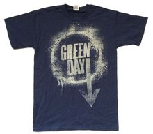 Green Day Arrow Down Splatter Image Navy Blue T Shirt New Official Soft New 2017 Summer Style T-Shirt Short Sleeve Tops