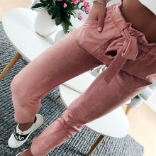 Buy 2018 new fashion women suede pants style ladies Leather bottoms female trouser Casual Red wine pencil pants high waist trousers for $9.87 in AliExpress store