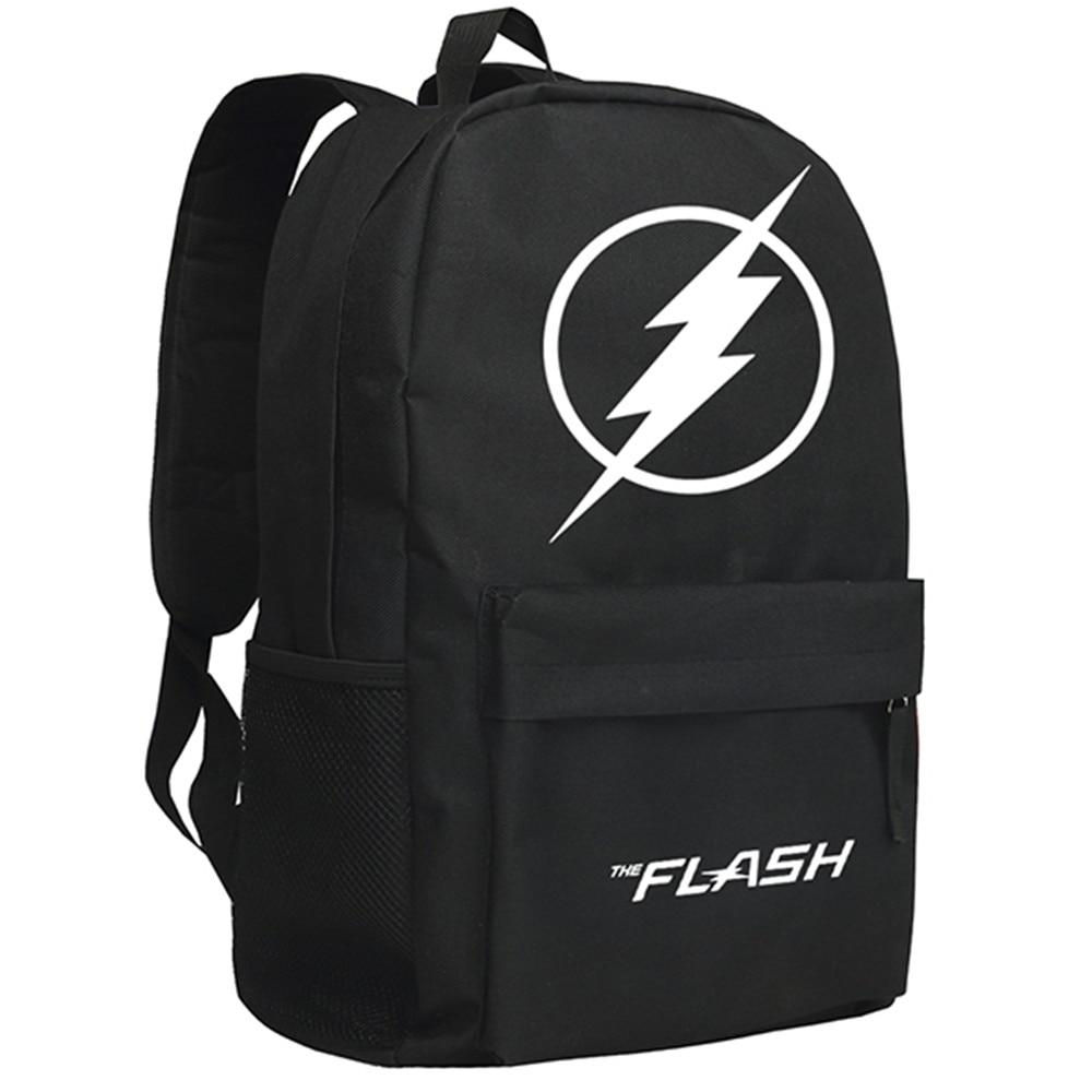 Zshop DC Manga Heroes The Flash Backpack Children Schoolbag Justice League Daypack<br>