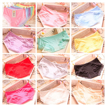 3Pcs Quality Comfortable Breathable Bamboo Charcoal Fiber Underwear Girls Panties Modal Panties Solid Color Lace Shorts Briefs(China)