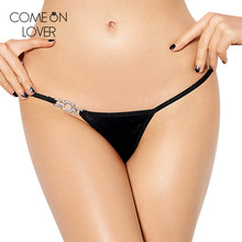 Buy PE5052 Comeonlover Solid black plus size woman panties fashion sexy low waist bragas atractivas hot sexy g string panties women