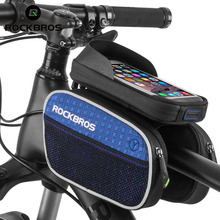 "ROCKBROS MTB Bicycle Frame Front Bag Cycling Bike Top Tube Phone Bag 5.7"" for Smartphone Touch Screen Bike Accessories 2017"