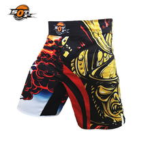 SOTF Ghost Warrior breathable fabric sports training boxing shorts mma thai boxing muay thai clothing thai boxing shorts mma