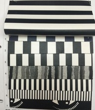 synthetic PU Black and white stripes leather material(China)