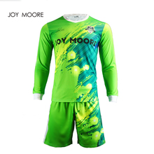 High quality design fluorescent green goalkeeper soccer jersey custom any colors(China)