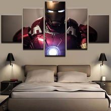 Picture Modular Painting Modern Prints 5 Panel Iron Man Landscape Wall Art For Living Room Home Decor Artwork Canvas Prints YGYT