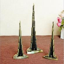 2017 building model dubai Burj Khalifa Tower metal model ornaments home decor gift for friends architectural teacher