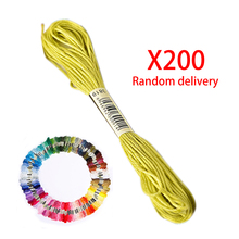 Sewing Color Cotton Thread Cross Stitch Cotton Thread Embroidery Line Sewing Set 200pcs For Sale(China)