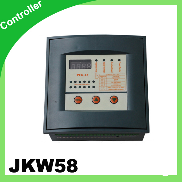 JKW58 PFR Reactive power compensation 2 step 380v power factor controller power factor meter<br>